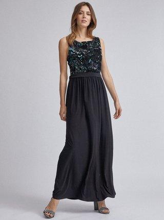 Černé maxi šaty s flitry Dorothy Perkins