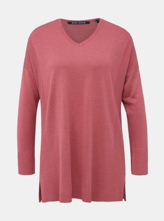 Rúžový dámsky sveter Blue Seven