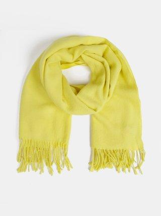 Žltý šál s prímesou vlny Pieces