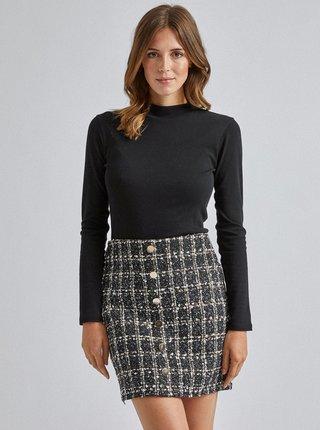 Čierna kockovaná sukňa Dorothy Perkins