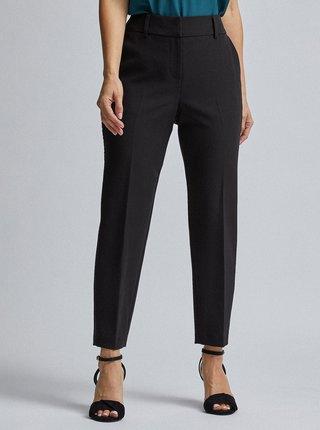 Černé zkrácené kalhoty s lampasem Dorothy Perkins Petite