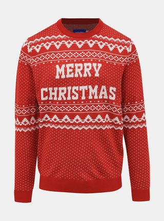 Červený svetr s vánočním motivem Jack & Jones Jingle
