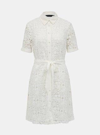 Bílé krajkové košilové šaty Dorothy Perkins