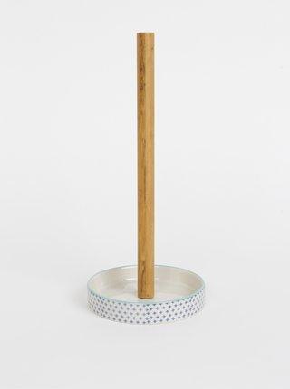 Modro-krémový stojan na papírové utěrky Tranquillo Home Svenja