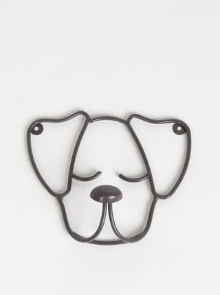 Tmavošedý věšiak v tvare psa Tranquillo Home Snoop