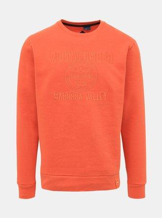 Oranžová pánská mikina Roadsign