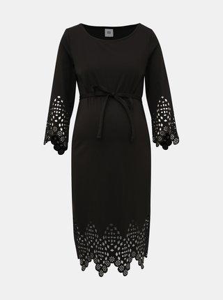 Černé těhotenské šaty Mama.licious Alaia