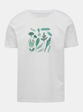 Biele pánske tričko s potlačou ZOOT Original Zelenina, co nemá nikdo rád