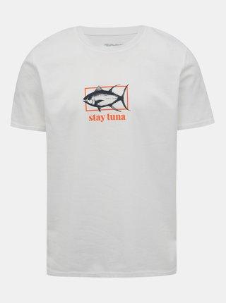 Biele pánske tričko s potlačou ZOOT Original Stay tuna