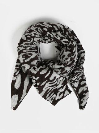 Krémovo-hnedý šál s leopardím vzorom Pieces Koa