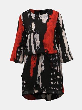 Červeno-čierne vzorované šaty Blue Seven
