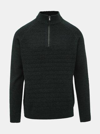 Tmavě zelený svetr Burton Menswear London Scarab