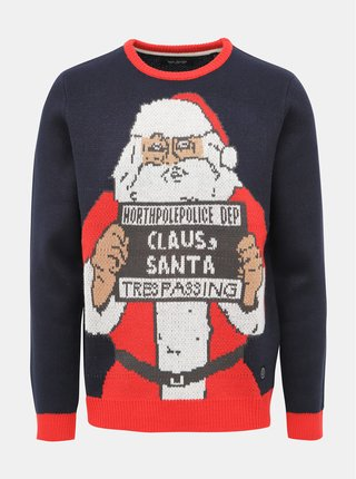 Modrý svetr s vánočním motivem Shine Original