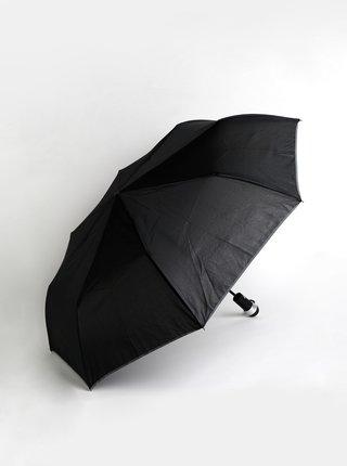 Černý skládací vystřelovací deštník se světlem Something Special
