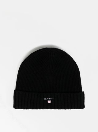 Čierna vlnená čiapka GANT