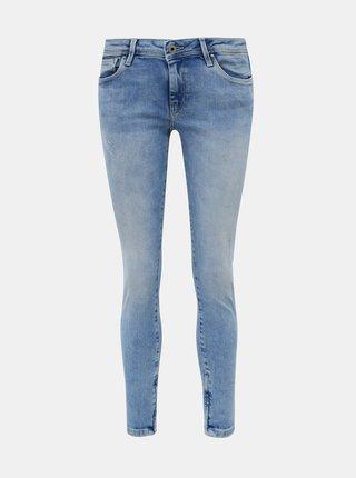 Světle modré dámské zkrácené skinny fit džíny Pepe Jeans Cher