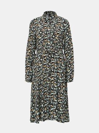 Mentolové vzorované košeľové šaty VERO MODA Cambria