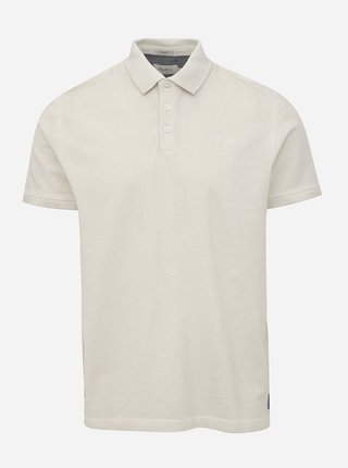 Krémové pánské polo tričko Pepe Jeans Roco