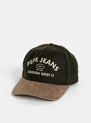 Kaki pánska vlnená šiltovka Pepe Jeans Murray