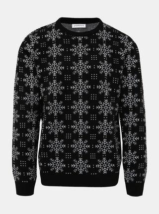Černý svetr s vánočním motivem Lindbergh