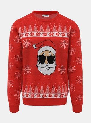 Červený sveter s vianočným motívom Lindbergh