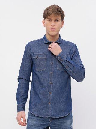 Modrá pánska rifľová košeľa Maloja Darco