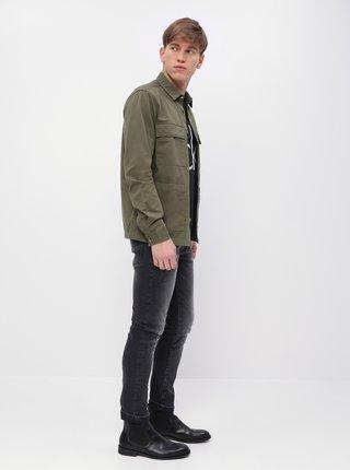 Kaki rifľová košeľa Burton Menswear London