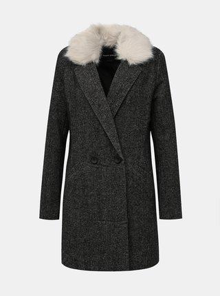 Tmavošedý kabát s prímesou vlny TALLY WEiJL Fati
