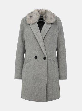 Šedý kabát s prímesou vlny TALLY WEiJL Fati