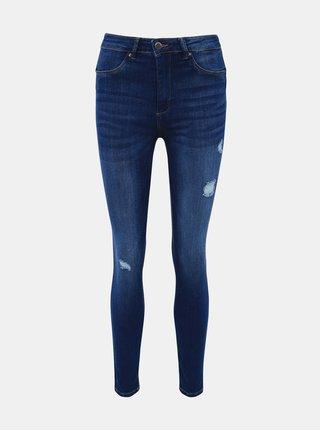 Modré zkrácené push up skinny fit džíny TALLY WEiJL Pump