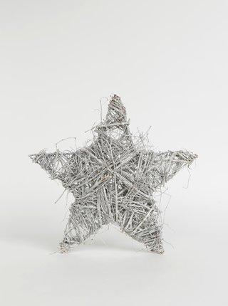 Svetlošedá dekorácia v tvare hviezdy Dakls 37 cm
