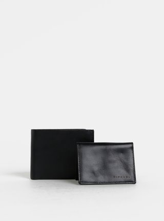 Černá pánská kožená peněženka s odnímatelným pouzdrem 2v1 Rip Curl Laser