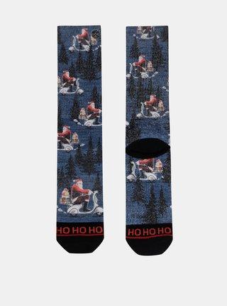 Modré pánske ponožky s vianočným motívom XPOOOS