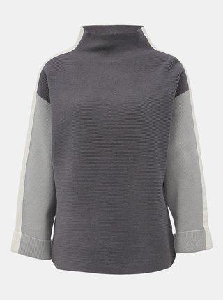 Šedý sveter s pásom M&Co