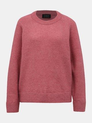 Rúžový sveter s prímesou vlny z alpaky Selected Femme Lanna