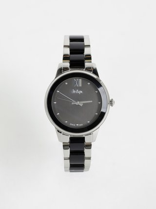 Dámské hodinky s kovovým páskem v černo-stříbrné barvě Lee Cooper