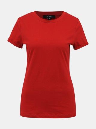 Červené dámské basic tričko ZOOT Camu