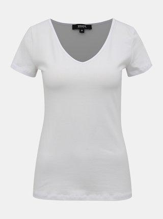 Bílé dámské basic tričko ZOOT Dora