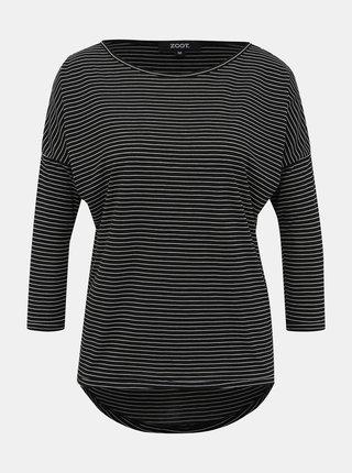 Černé dámské pruhované basic tričko ZOOT Jasmine