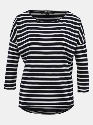 Bílo-modré dámské pruhované basic tričko ZOOT Jasmine