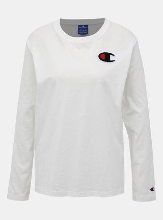 Biele dámske tričko s nášivkou Champion