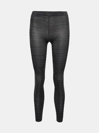 Tmavě šedé vzorované punčochové kalhoty Pompea Kleber