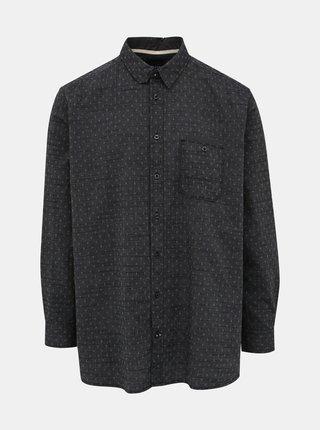 Tmavošedá pánska vzorovaná košeľa Tom Tailor