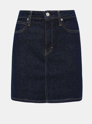 Tmavě modrá džínová sukně Calvin Klein Jeans