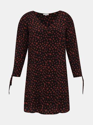 Černé puntíkované šaty My True Me Tom Tailor