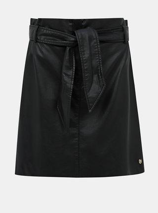 Černá koženková sukně Tom Tailor