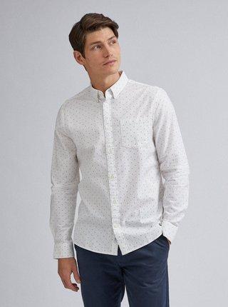 Bílá vzorovaná košile Burton Menswear London