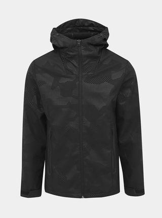 Čierna vzorovaná ľahká vodeodpudivá bunda Jack & Jones Pearce