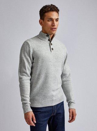 Světle šedý svetr Burton Menswear London