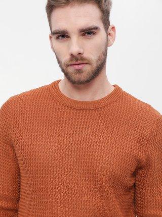 Hnedý sveter Jack & Jones Flow